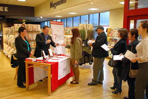 Book signing at Chapters in Burlington, Ontario.