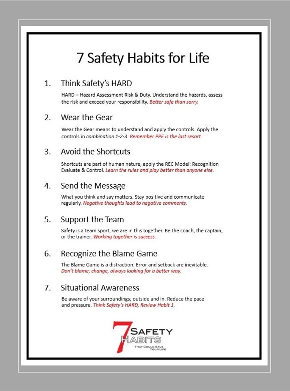 7 Safety Habits for Life